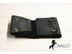 Зажим для денег из натуральной кожи Cavallo™ Crazy Horse Classic, черный С0006