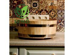 Хангири (кадка для приготовления риса) из ясеня Seikō™, 10 литров, диаметр 39 см