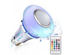Светодиодная музыкальная Bluetooth смарт-лампочка Е 27 8W Sundy c динамиком