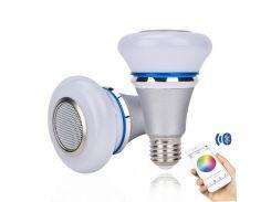 Светодиодная музыкальная Bluetooth смарт-лампочка Е 27 8W Sundy c динамиком, металлическая