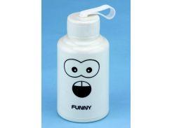 Бутылка с мордой FUNNY белая