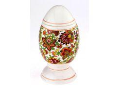 Писанка яйцо - графин штоф, красный декор