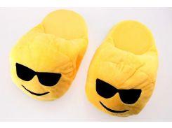 Тапочки Смайлик в очках, размер 38