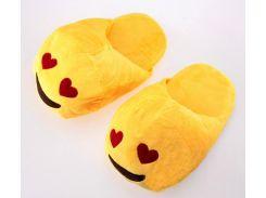 Тапочки Смайлик с сердечком, размер 38