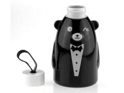 Термобутылка 33 wishes Gentle Bear черная, бутылка медвежонок (HD-231)