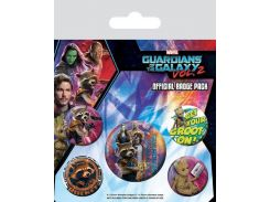Значок Pyramid International Badge Pack: Marvel - Guardians of the Galaxy Vol.2 Rocket & Groot