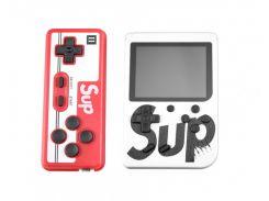 Портативная игровая ретро приставка с джойстиком 400 игр Dendy денди SEGA 8bit SUP Game Box белая