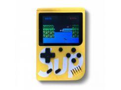 Портативная игровая ретро приставка 400 игр Dendy денди SEGA 8bit SUP Game Box желтый
