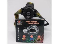 Налобный фонарь BL POLICE 2188B-2 158000W T6 фонарик 1050 Lumen