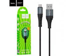 Кабель Lightning HOCO X38 Micro USB 2,4A в тканевой оплётке Чёрный