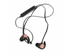 Наушники bluetooth Gorsun E57 с микрофоном и регулятором громкости Светло розовые с чёрным