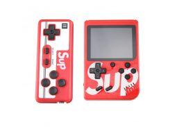 Sundy Портативная игровая ретро приставка с джойстиком 400 игр Dendy денди SEGA 8bit SUP Game Box красная