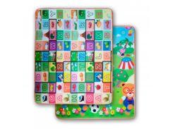 3D Коврики в детскую, термо, экологически чистые и безопасные  (двухсторонний) скручивающие 1.8m*2.0*5mm Буквы-Футбол