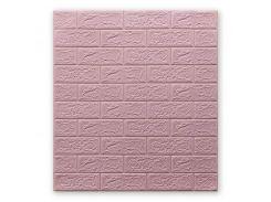 Декоративные панели для стен цвет розовый (самоклейка) 5мм