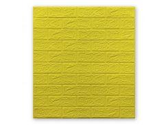 Декоративные панели для стен цвет желтый (самоклейка) 5мм