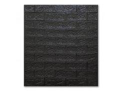 Декоративные панели для стен цвет (самоклейка) черный 5мм
