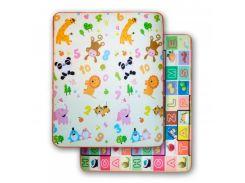 3D Коврики в детскую, термо, экологически чистые и безопасные  (двухсторонний) скручивающие 1.8m*1.5*5mm Животные-Буквы