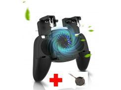 Беспроводной геймпад триггер для смартфонов Union PUBG Mobile К9 с вентилятором и аккумулятором на 4000 mAh