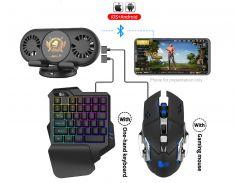Мобильный игровой Bluetooth адаптер с охлаждением, игровой клавиатурой и мышкой Union Sundy PUBG Mobile Х2
