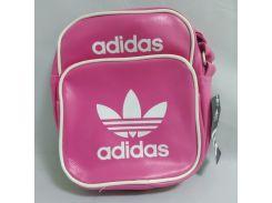 Сумка через плечо Adidas Style Sport Размер 23х18х8 длина ручки 1м30см РОЗОВАЯ