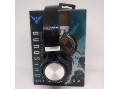 Беспроводные Bluetooth Наушники J59SS FM радио Чёрные с серым