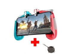 Беспроводной геймпад триггер для смартфонов Sundy Union PUBG Mobile AK16 Голубой, красный