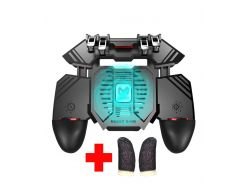 Беспроводной геймпад триггер для смартфонов с вентилятором и аккумулятором на 1200 mAh Union PUBG Mobile AK77