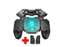 Беспроводной геймпад триггер для смартфонов Union PUBG Mobile AK77 с вентилятором и аккумулятором на 4000 mAh