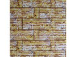 3D Панель черный лофт (самоклейка) Бамбук Новое, желтый