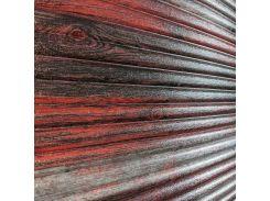 3D Панель черный лофт (самоклейка) Бамбук Новое, красно-серый