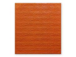 Декоративные панели для стен (самоклейка) (5мм) Оранжевый