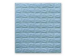 3D Панель для стен:цвет однотонный (под кирпич) лофт (самоклеящиеся) 7мм Бирюзовый
