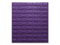 3D Панель для стен:цвет однотонный (под кирпич) лофт (самоклеящиеся) 7мм Фиолетовый