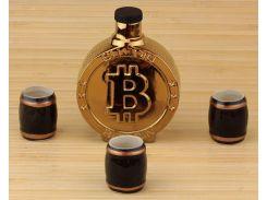 Подарочный набор 33 wishes Биткоин Bitcoin, 4 предмета (KE105)