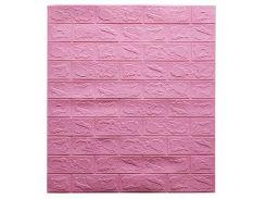 Декоративные панели для стен цвет (самоклейка)  3мм розовый