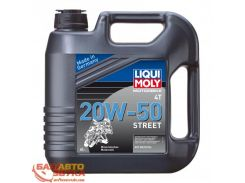 Масло для мототехники LIQUI MOLY Motorbike 4T 20W-50 Street 1696 4л