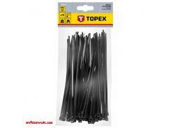 Стяжка TOPEX 4,8 x 200 мм, 75 шт. черные 44E978