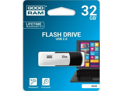 Флешка USB  GOODRAM Colour Mix 32GB UCO2-0320KWR11 White/Black Ровно