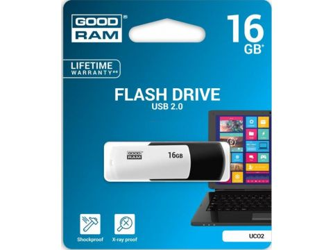 Флешка USB  GOODRAM Colour Mix 16GB UCO2-0160KWR11 White/Black Ровно