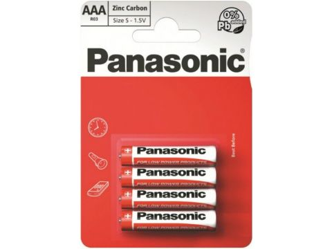 Батарейка Panasonic Red Zink-Carbon ААА (BLI/4) Ровно