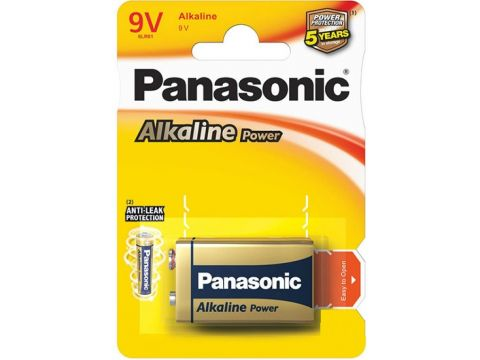 Батарейка Panasonic Alkaline Power 6LR61 (BLI/1) Ровно