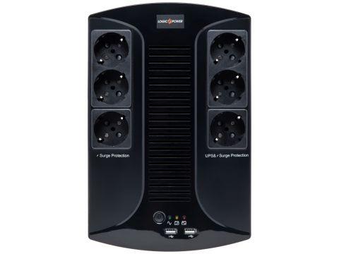 ПБЖ Logicpower 850VA-6PS Black Ровно