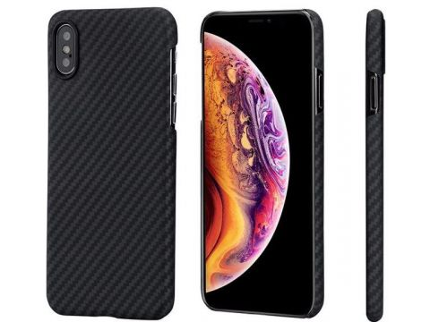 Чохол Pitaka for iPhone X/Xs Aramid Case Black/Grey  (KI8001) Ровно