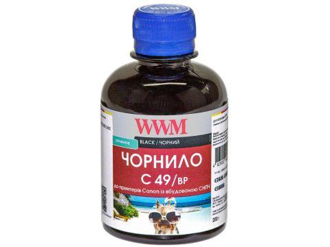 Чорнило WWM Canon C49/BP Pixma G1400/2400/3400 Black Pigmented Ровно