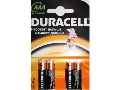 Батарейка Duracell MN2400 LR03 4 шт. Ровно