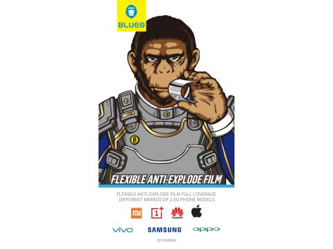 Захисна плівка  Blueo Anti-explode for Huawei Y5 2018 Black Ровно