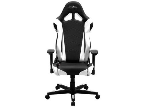 Крісло DXRACER RACING OH RE0 NW  Black White  (OH/RЕ0/NW)