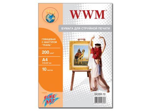 """Фотопапір А4 WWM Fine Art """"Тканина"""" 10 аркушів (GC200.10) Ровно"""