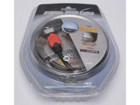 Кабель ATcom HDMI / HDMI 2м Ровно