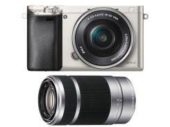 Цифрова фотокамера Sony Alpha 6000 kit 16-50 мм + 55-210 мм Silver